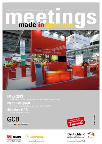 """Meetings made in Germany"" 1-2013 - GCB"