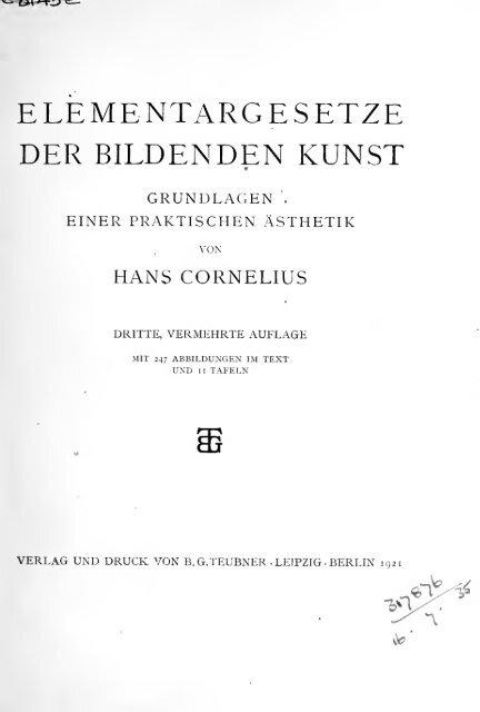 Elementargesetze der bildenden kunst : Grundlagen einer ...