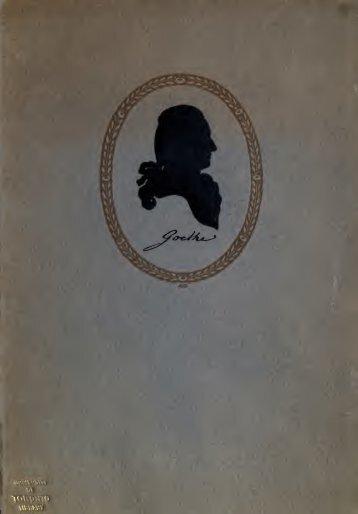 Mit Goethe durch die Schweiz, ein Wanderbuch;