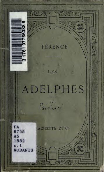 Les Adelphes; texte Latin, publié avec une introduction, des notes ...