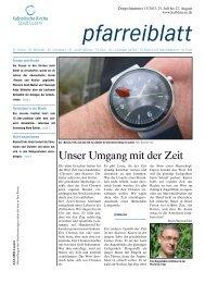 Unser Umgang mit der Zeit - Katholische Kirche Stadt Luzern