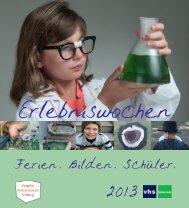 rlebniswochen - Volkshochschule Gütersloh