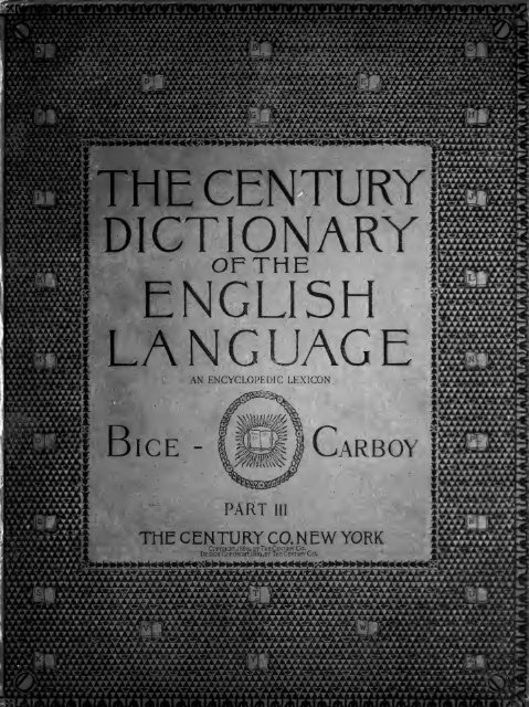 The Century Dictionary An Encyclopedic Lexicon Of The