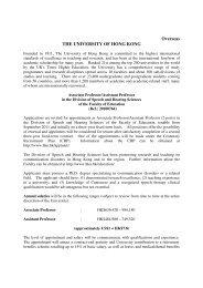 the university of hong kong - International Society of Audiology