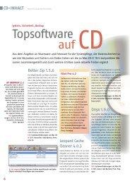 CD-Inhalt - Macwelt