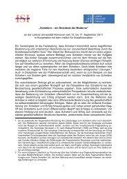 Konzept - Institut für Soziologie - Leibniz Universität Hannover
