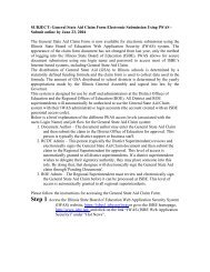 SUBJECT: General State Aid Claim Form Electronic Submission ...