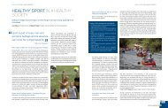 Healthy Sport in a healthy society (PDF, 0.16 MB) - ISCA