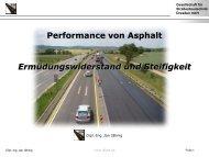 Performance von Asphalt Ermüdungswiderstand und Steifigkeit