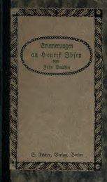 Erinnerungen an Henrik Ibsen