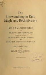 Die Umwandlung in Kult, Magie und Rechtsbrauch