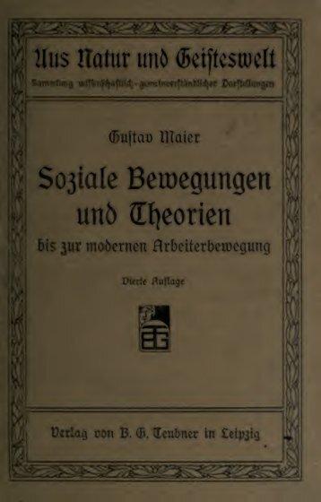 Soziale Bewegungen und Theorien bis zur modernen ...