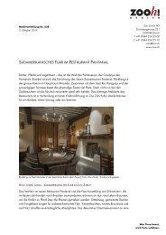 Südamerikanisches Flair im Restaurant Pantanal [PDF ... - Zoo Zürich