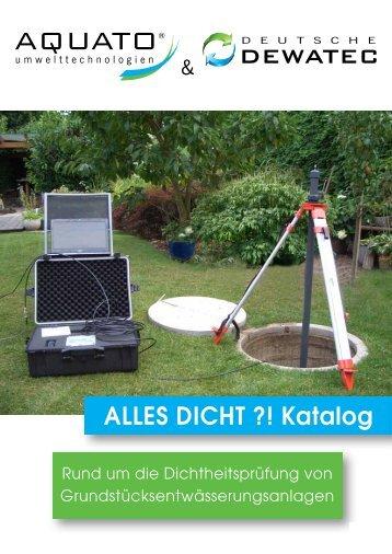 Alles Dicht?! Katalog 2013 - AQUATO Umwelttechnologien GmbH