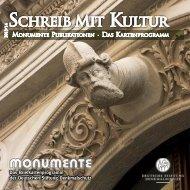 Das Kartenprogramm 2013 - Deutsche Stiftung Denkmalschutz