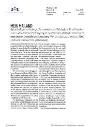 Mein Mailand, Weltwoche Stil, 25. April 2013 - Enit