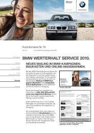 BMW WERTERHALT SERVICE 2010. - BMW Niederlassung Berlin