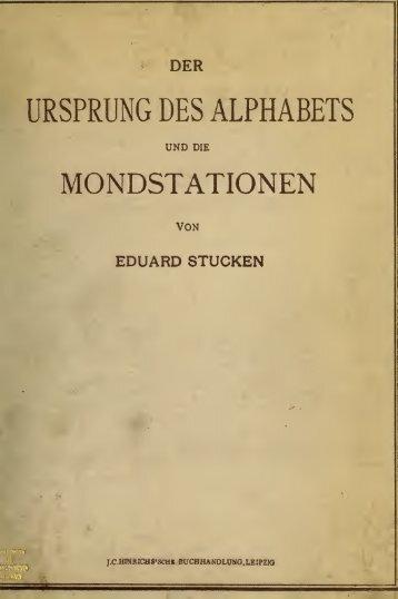 Der Ursprung des Alphabets und die Mondstationen