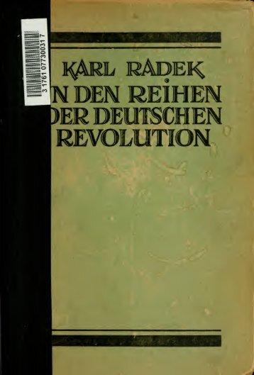 In den Reihen der deutschen Revolution, 1909-1919, gesammelte ...