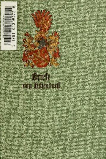 Sämtliche Werke des Freiherrn Joseph von Eichendorff : historisch ...