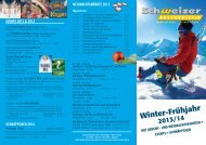 events 2013 & 2014 - Busreisen mit Schweizer Bustouristik