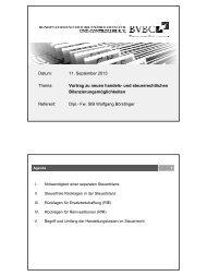 Datum: 11. September 2013 Thema: Vortrag zu neuen handels- und ...