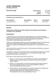 Die Beschlussvorlage zur Neufassung der ... - Stadt Herdecke