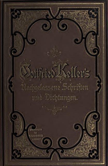 Nachgelassene Schriften und Dichtungen