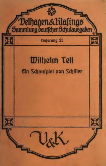 Wilhelm Tell, ein Schauspiel;