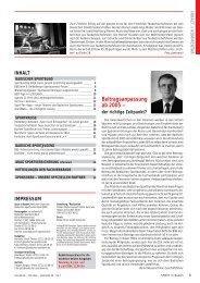 Beitragsanpassung ab 2005 – - Badischer Sportbund Nord eV