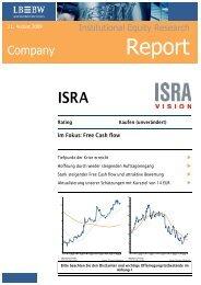 Report - ISRA VISION AG