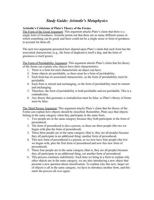 Study Guide Senses