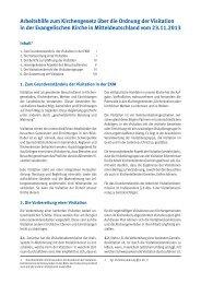 Arbeitshilfe zum Kirchengesetz über die Ordnung der Visitation in ...