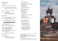 Organisation und Ablauf der Bundestagung von A-Z - BDIC