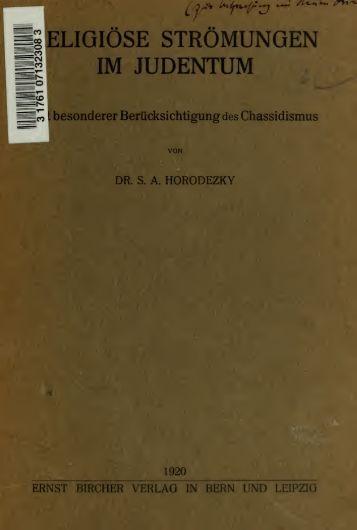 Religiöse Strömungen im Judentum, mit besonderer ...