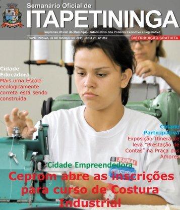 Ceprom abre as inscrições para curso de Costura Industrial