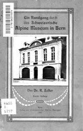 Ein Rundgang durch das Schweizerische Alpine Museum in Bern