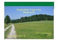 Ausgewählte Fragen des Wegerechts - BFW