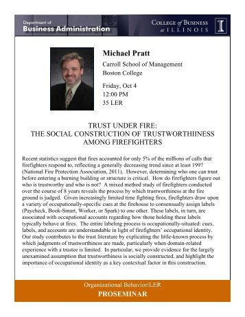 Michael Pratt - College of Business at Illinois