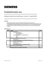 Handbuch Simatic Power Rail Booster, Version 1.3 ... - Siemens