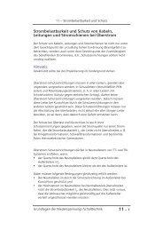 Strombelastbarkeit und Schutz von Kabeln, Leitungen ... - Siemens