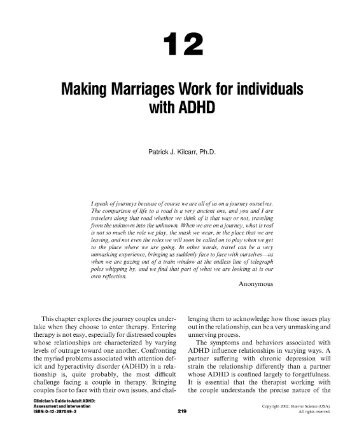 12 Making Marriages Work for individuals with ADHD
