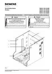 Verschlußschieber 3WX31 84-3CA00 Shutter 3WX31 84 ... - Siemens