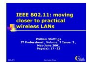 IEEE 802.11: moving closer to practical wireless LANs