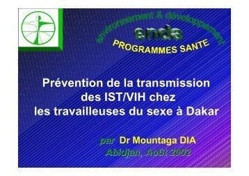 Prévention de la transmission des IST/VIH chez les travailleuses ... - Itg