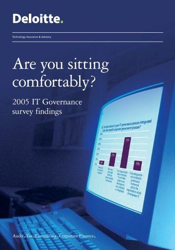 2005 IT Governance Survey - Deloitte