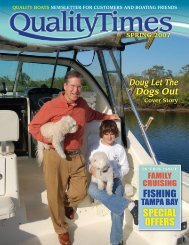 QUALITY BOATS NEWSLETTER FOR CUSTOMERS AND BOATING