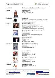 Programmflyer Kulturraum Auerberg 2012-2