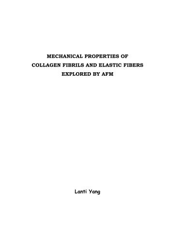 MECHANICAL PROPERTIES OF COLLAGEN FIBRILS AND ...