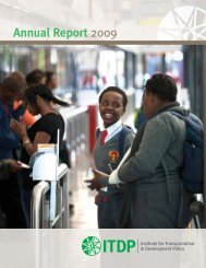 Annual Report 2009 - ITDP | Institute for Transportation and ...